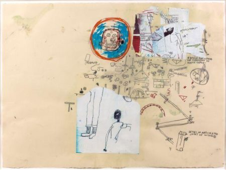 Jean-Michel Basquiat-Sans Titre (Head in Red Circle)-1985