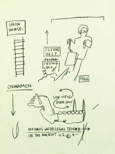 Jean-Michel Basquiat-Sans Titre (Iron Horse, China Men, Flying Belt)-1983