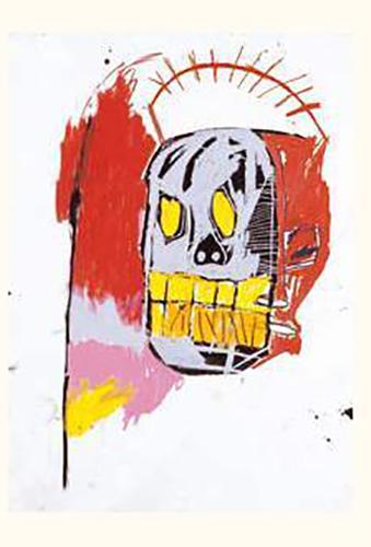Jean-Michel Basquiat-Sans Titre (Scull Yellow Teeth)-1982