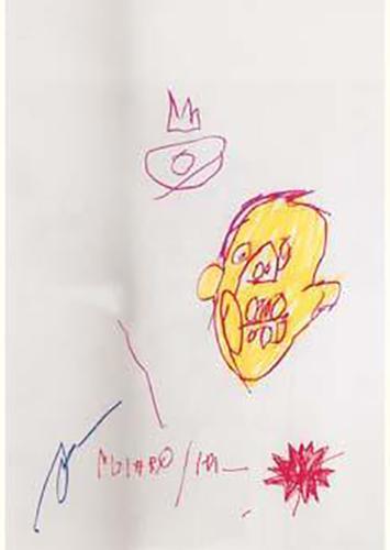 Jean-Michel Basquiat-Sans Titre (Yellow Head)-1981