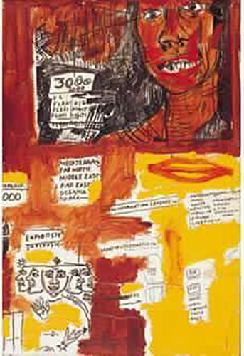 Jean-Michel Basquiat-Sans Titre (3000, Red Face)-1984