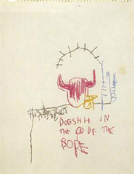 Jean-Michel Basquiat-Sans Titre (Dogshit)-1981