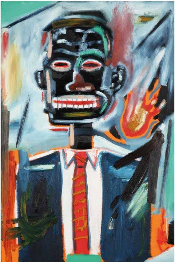 Jean-Michel Basquiat-Sans titre (Self Portrait With Tie)-1985