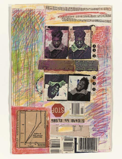 Jean-Michel Basquiat-Self-Portrait (Four Pictures)-1978