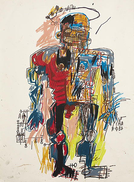 Jean-Michel Basquiat-Self-Portrait (Mulitcolored Robot)-1982
