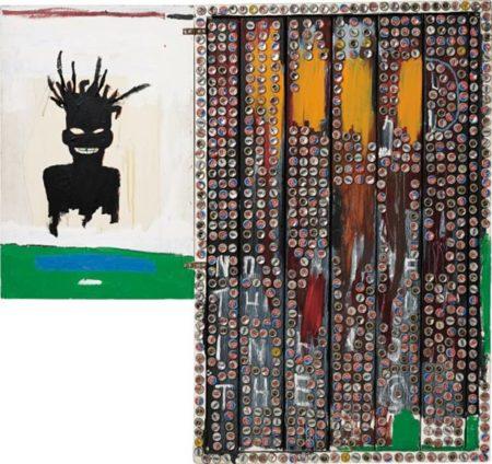 Jean-Michel Basquiat-Self-Portrait (No If In The, Bottle Caps)-1985