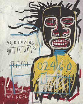 Jean-Michel Basquiat-Self Portrait as a Heel-1982