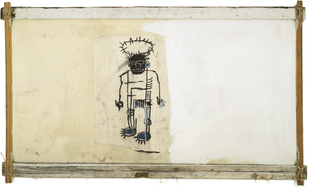 Jean-Michel Basquiat-Self-portrait (On Wood Supports, Black Guy Halo)-1982