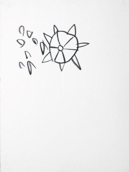 Jean-Michel Basquiat-Senza Titolo (Beachball With Spikes, 1981-1981