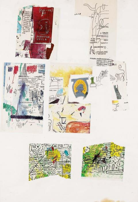 Jean-Michel Basquiat-Senza Titolo (Six Collages)-1986