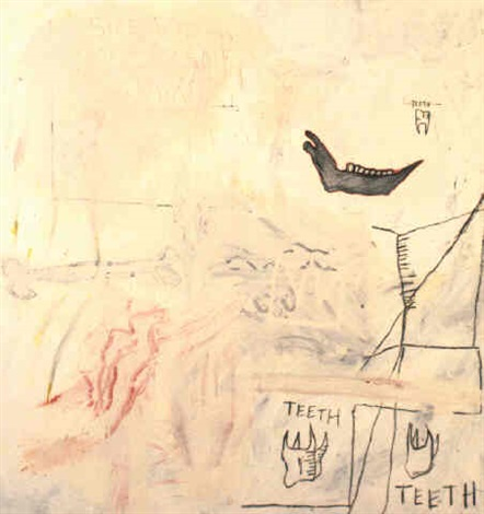 Jean-Michel Basquiat-Side View of an Oxen's Jaw-1982