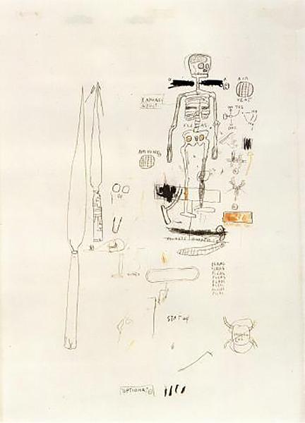 Jean-Michel Basquiat-Squelette-1985