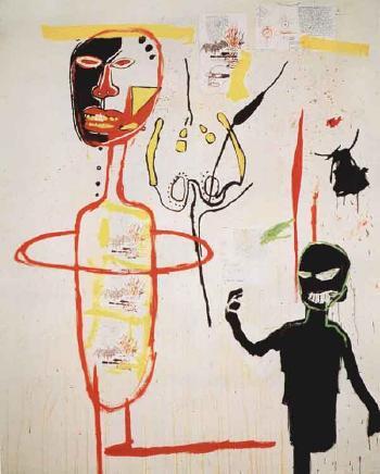 Jean-Michel Basquiat-Skin Flint-1984