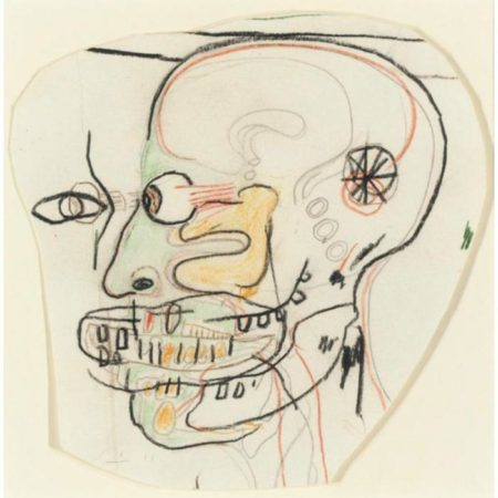 Jean-Michel Basquiat-Skull (Face and Profile)-