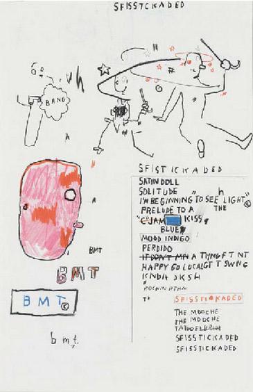 Jean-Michel Basquiat-Sophisticated Lady-1987