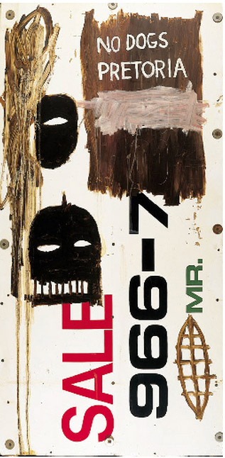 Jean-Michel Basquiat-South African Nazism-1985