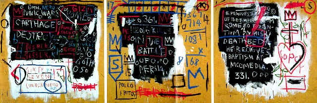 Jean-Michel Basquiat-Speaks For Itself (Tryptich)-1982
