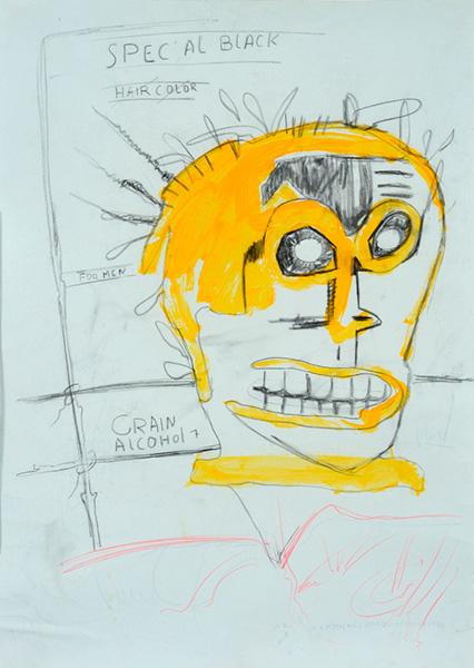 Jean-Michel Basquiat-Spec'al black-1984