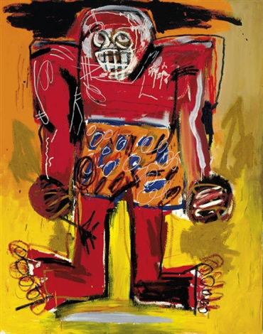 Jean-Michel Basquiat-Sugar Ray Robinson-1982