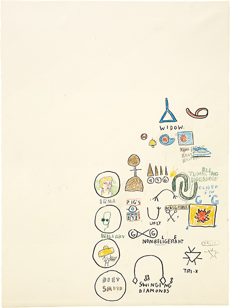 Jean-Michel Basquiat-Swinging Diamonds-1987