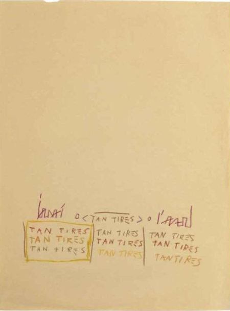 Jean-Michel Basquiat-Tan Tires-