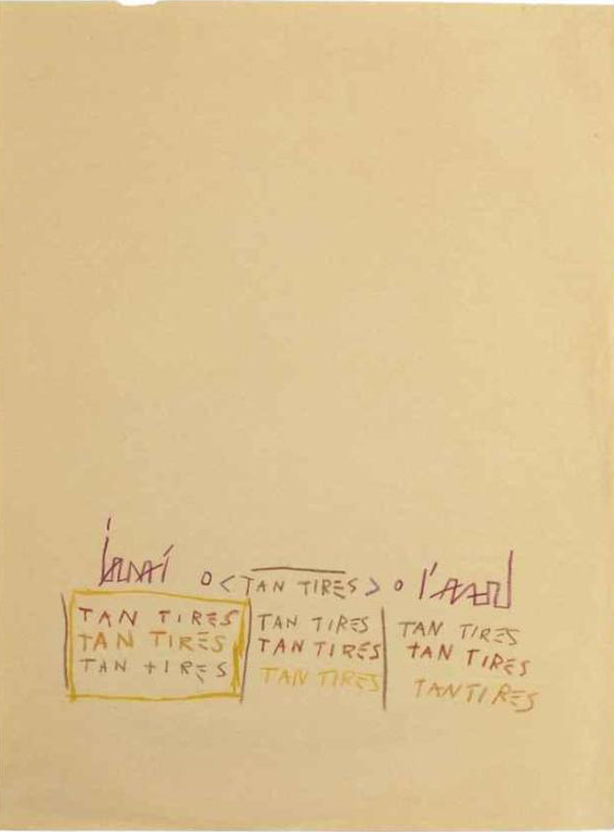 Jean-Michel Basquiat-Tan Tires-