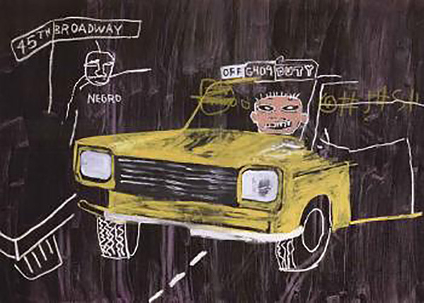 Jean-Michel Basquiat-Taxi, 45th Broadway-1984