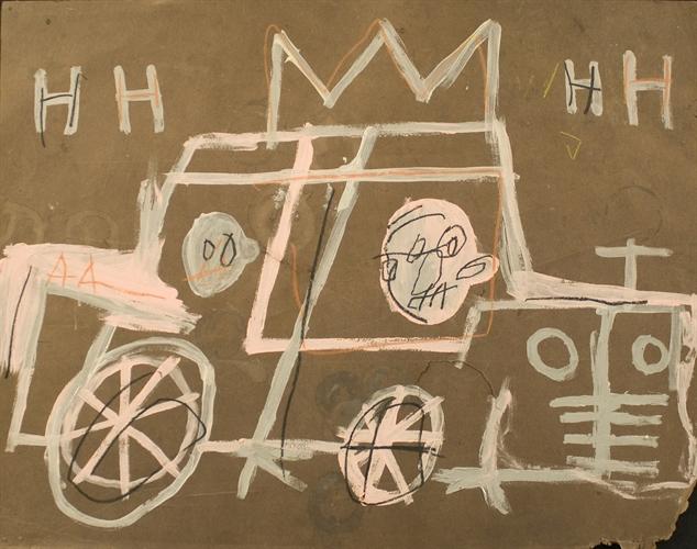 Jean-Michel Basquiat-Taxi Cab-1980