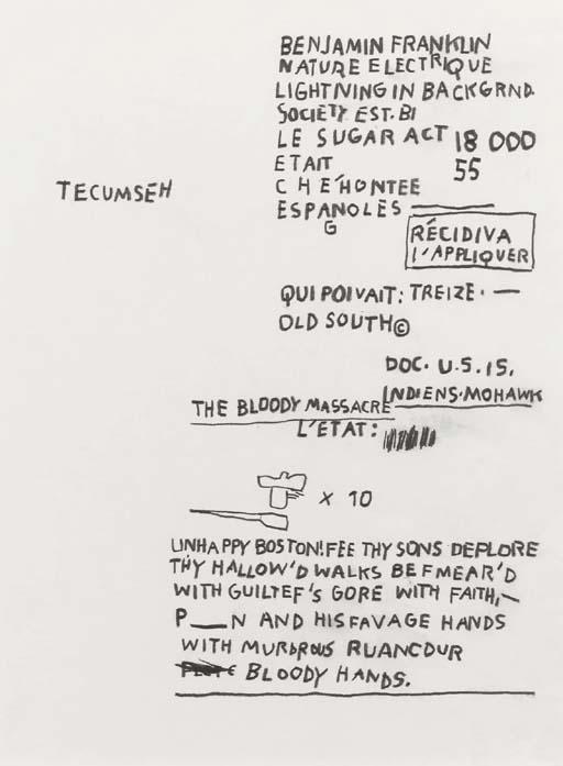 Jean-Michel Basquiat-Tecumseh-1985