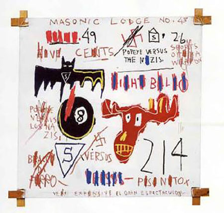 Jean-Michel Basquiat-Television and Cruelty to Animals-1983