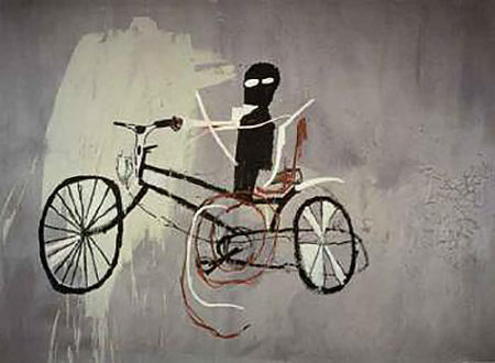 Jean-Michel Basquiat-The Bicycle Man-1984