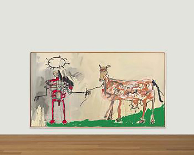 Jean-Michel Basquiat-The Field Next to the Other Road-1981