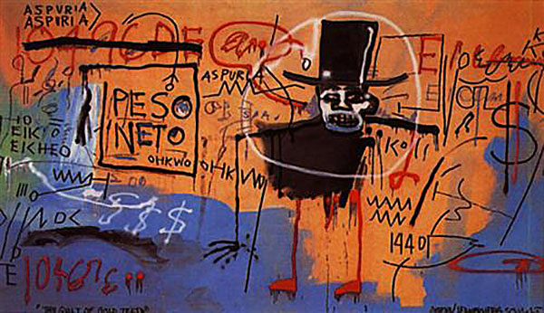 Jean-Michel Basquiat-The Guilt of Gold Teeth-1982