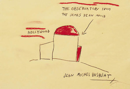 Jean-Michel Basquiat-The Observatory from the James Dean Movie-