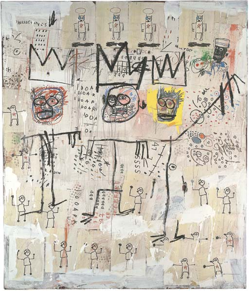 Jean-Michel Basquiat-The Ruffians-1982