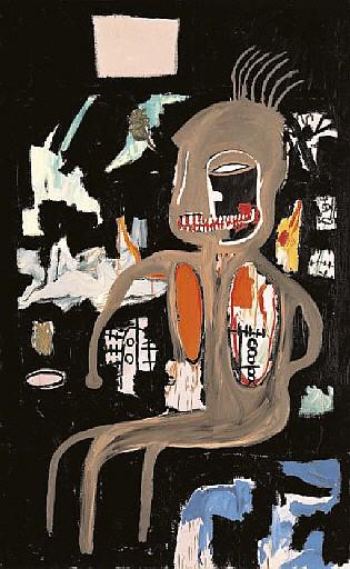Jean-Michel Basquiat-The Thinker-1986