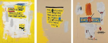 Jean-Michel Basquiat-The Whole Livery Line /Pay for Soup/Universal-1987