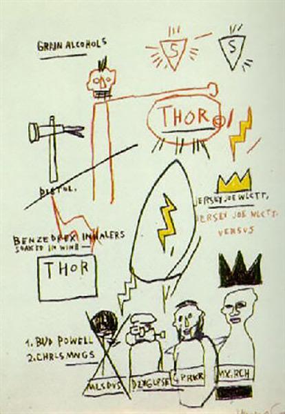 Jean-Michel Basquiat-Thor-1983