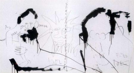 Jean-Michel Basquiat-Three Figures-