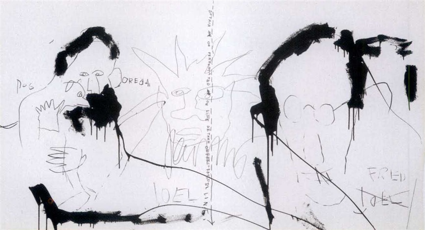 Jean-Michel Basquiat-Three Figures-