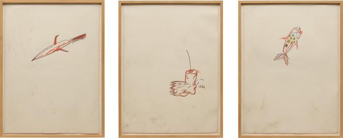 Jean-Michel Basquiat-Three works: Untitled-1982
