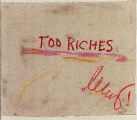Jean-Michel Basquiat-Too Riches-1986
