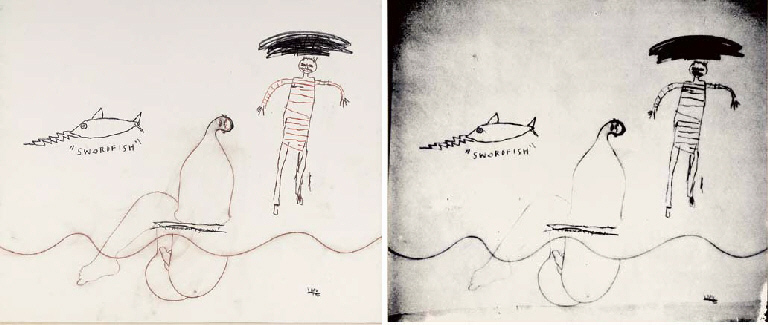 Jean-Michel Basquiat-Tre Amici (Diptych)-1984