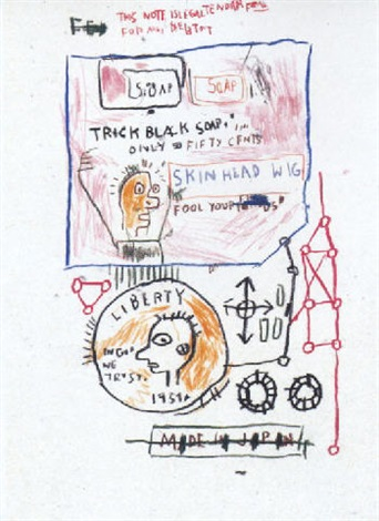 Jean-Michel Basquiat-Trick Black Soap-1983