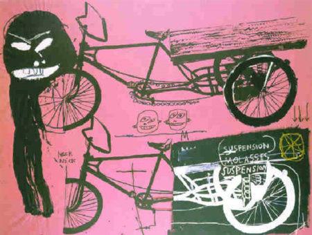 Jean-Michel Basquiat-Tricycle-1985