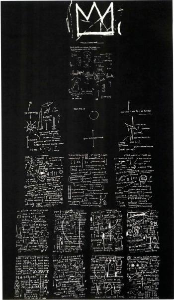 Jean-Michel Basquiat-Tuxedo-1983