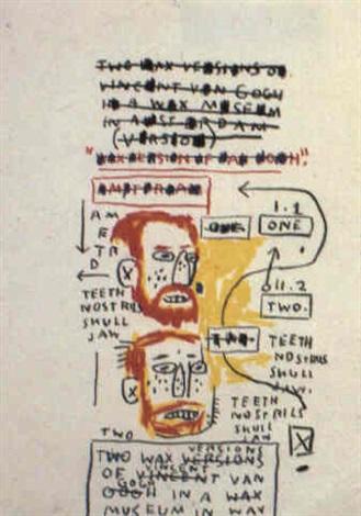Jean-Michel Basquiat-Two Wax Versions of Vincent van Gogh-1983