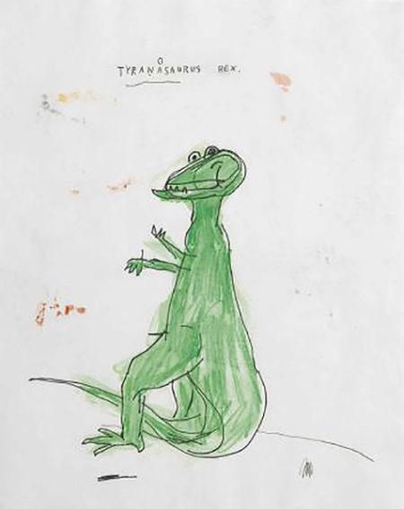 Jean-Michel Basquiat-Tyranasaurus Rex-1986