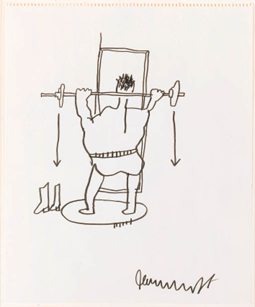 Jean-Michel Basquiat-Untilted (Weight Lifter)-
