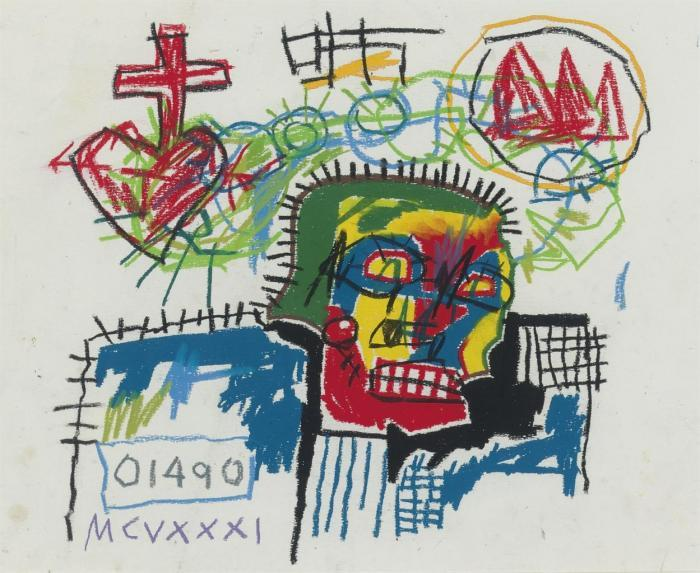Jean-Michel Basquiat-Untitled (01490)-1981